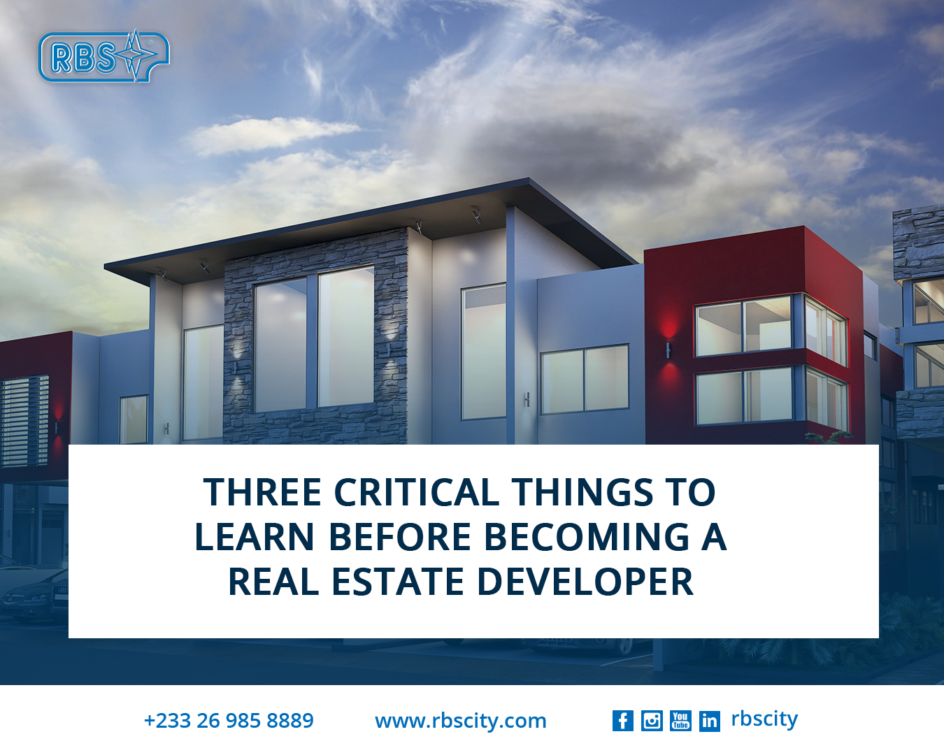 Three Critical Things To Learn Before Becoming A Real Estate Developer